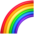 emoji of a rainbow